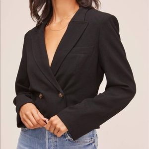 Cropped double breasted blazer NWT